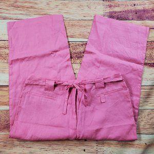 Kim Rogers 100% Linen Cropped Pants Size 14